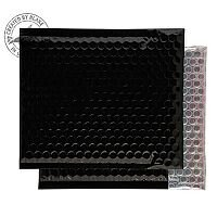 Purely Packaging Envelope P&S 165x165mm Padded Metallic Black Ref MBB165 [Pk 100]