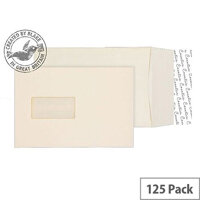 Purely Packaging Envelope P&S 140gsm C5 Window Cream Wove Ref 6401W [Pack 125]