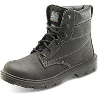 Click Footwear Sherpa Dual Density 6in Work Boots PU/Rubber Size 6.5 (40) Black - Steel Toe Cap & Midsole Protection. Shock Absorber Heel. Anti-static. Oil Resistant Sole. Heat Resistant, Slip Resistant, Water Resistant Ref SBBL06.5