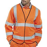 B-Seen High Visibility Long Sleeve Jerkin Large Orange Ref PKJENGORL