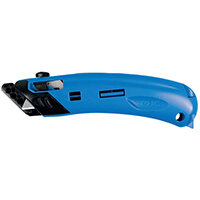 Pacific Handy Cutter Guarded Spring Back Safety Knife Ambidextrous Blue Ref EZ-4