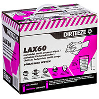 Dirteeze Lax60 Industrial Multipurpose Low Lint Wipes 60gsm Ref DZB150 [150 Wipes]