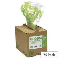 The Green Sack Refuse Sacks Medium Clear Pack of 75