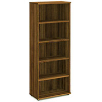 Tall Bookcase with 4 Shelves H2000mm Walnut
