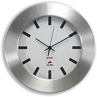 Wall Clock with Brushed Aluminium Case Diameter 300mm