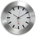 Wall Clock with Brushed Aluminium Case Diameter 300mm