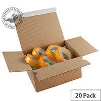Blake Purely Packaging Peel and Seal 260mm x 220mm x 130mm Postal Box Kraft Pack of 20