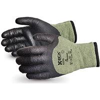 Superior Glove Emerald CX Kevlar/Steel Winter PVC Palm M Black Ref SUSCXTAPVCM