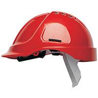 Scott Safety Style 600 HC600 Vented Helmet with Terylene Standard Headgear Red Ref HC600VR