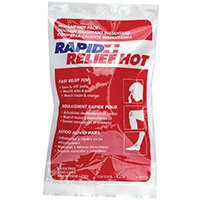Rapid Relief Instant Hot Pack Latex Free Large 5in x 9in Ref RA43259