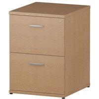 2 Drawer Filing Cabinet WxDxH 500x600x800mm Oak