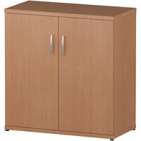 Low Cupboard With 2 Shelves H800mm Beech