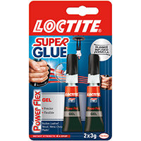 Loctite Super Glue Duo Gel Tubes x2 3g Clear Ref 2560191