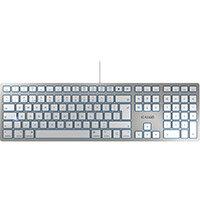Cherry KC6000 Wired Mac Slim Keyboard Silver Ref JK-1610GB-1
