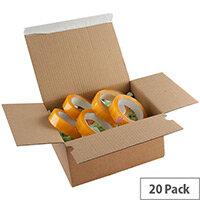 Blake Envelopes Purely Packaging 305mm x 215mm x 140-220mm Peel and Seal Postal Box Kraft Pack of 20