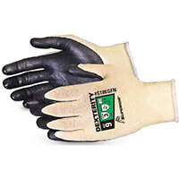 Superior Glove Dexterity Ultrafine 18-G Cut-Resist Kevlar 6 Black Ref SUS18KGFN06