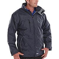 B-Dri Weatherproof Mercury Jacket with Zip Away Hood Size S Navy Blue Ref MUJNS