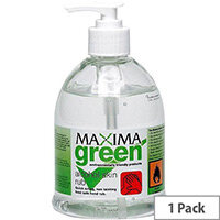 Maxima Green Hand Wash Alcohol-Based Skin Sanitiser 450ml Pack 1