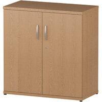 Low Cupboard With 2 Shelves H800mm Oak
