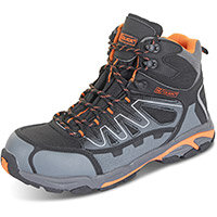 Click Footwear Leather S3 Hiker Boot Composite Toe Size 6.5 Blk/Grey Ref CF3506.5