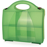Click Medical Green Eclipse Box with Partitions Ref CM1000