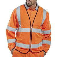 Click Fire Retardant Hi-Vis Jerkin Long Sleeve Size 2XL Orange Ref CFRPKJORXXL