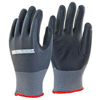 B-Flex Nitrile Pu Mix Coated Work Gloves Black & Grey Size M Pack of 100 Pairs Ref BF1M