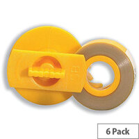 Lift Off Correction Tape Carma 7583 7584 - 1 x Pack of 6 Tapes