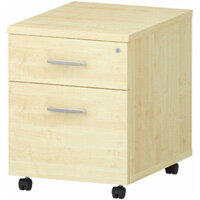 2 Drawer Mobile Desk Pedestal Maple