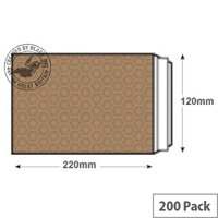 Blake Purely Packaging DL Peel and Seal Padded Envelopes Gold Pack of 200