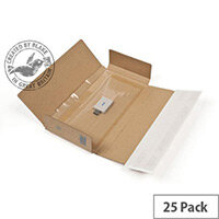 Blake Purely Packaging 235mm x 122mm x 20mm Peel and Seal Super Secure Tamper Evident Postal Box Kraft Pack of 25