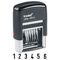 Trodat Printy 4846 6 Digit Number Stamp Self Inking 24 x 4mm