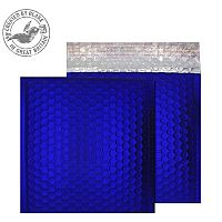 Purely Packaging Bubble Envelope P&S CD Metallic NeonBlue Ref MTNB165 [Pk 100]