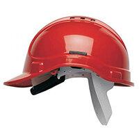 Scott Safety Style 300 HC300EL Vented Helmet with Terylene Standard Headgear Red Ref HC300VELR