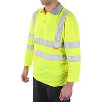 B-Seen Hi-Vis 3/4 Sleeve Polyester Polo Shirt Size 5XL Saturn Yellow Ref BPK3QSY5XL