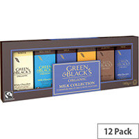Green and Blacks Organic Milk/White Chocolate Miniatures Collection 15g Bars Pack of 12