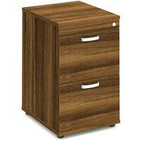 2 Drawer Filing Cabinet WxDxH 500x600x800mm Walnut
