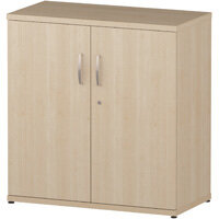 Low Cupboard With 2 Shelves H800mm Maple