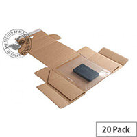 Blake Purely Packaging 190mm x 150mm x 70mm Peel and Seal Super Secure Tamper Evident Postal Box Kraft Pack of 20