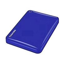 Toshiba Canvio Connect II Hard Drive USB 3.0 and 2.0 Compatible 1TB Blue Ref HDTC810EL3AA