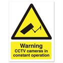 Stewart Superior Caution CCTV Camera Sign Self Adhesive Vinyl 150x200mm