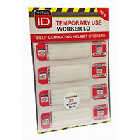 Vitalid Hard Hat ID Induction Stickers Ref WSID03 Pack of 25