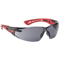 Bolle Rush+ RUSHPPSF Safety Glasses Smoke with Platinum Coating Ref BORUSHPPSFPLUS