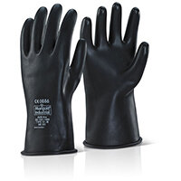 Ansell Industrial Latex Medium Weight Wrist Length Black 10 Ref ILMWW10