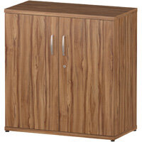 Low Cupboard With 1 Shelf (2 Shelving Compartments) H800xD400xW800mm Walnut