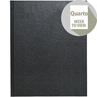 Collins 2020 Quarto Desk Diary Week to View Sewn Binding 190x260mm Assorted Ref A36 2020