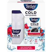 Tetley Cold Infusions Raspberry and Cranberry Starter Kit Ref 1700A