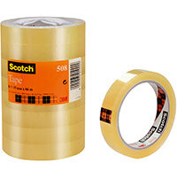 Scotch 508 Clear Tape 19mmx66m Clear Ref 7000080794 Pack of 8