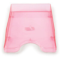 A4/Foolscap Polystyrene Continental Letter Tray Ice Pink