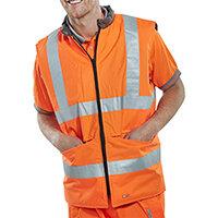 B-Seen Reversible Hi-Vis Bodywarmer Vest Size S Orange & Grey Ref BWENGORS